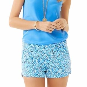 Lilly Pulitzer Adie Shorts Chasing Tale Size 10